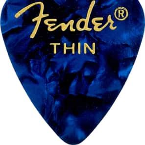 Fender 12 Pack of 351 Shape Premium Thin Guitar Picks Blue Moto for sale
