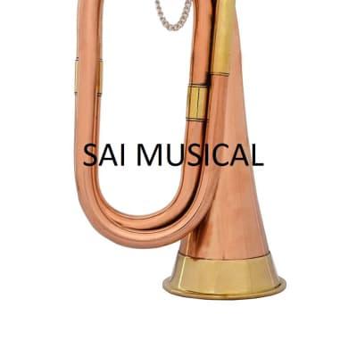 sai musicals Bugle Copper/Brass to Play Decorative Gift bu-15 2020 copper
