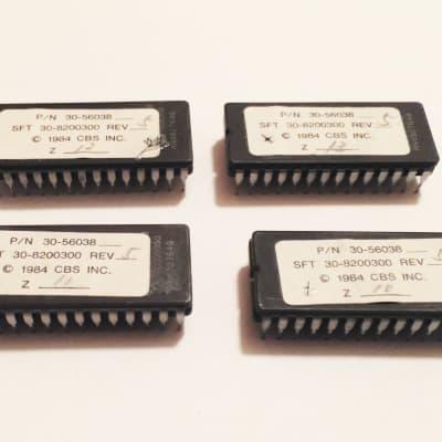 Rhodes Chroma Polaris Original EPROM Chips. Set of 4. Works Great !