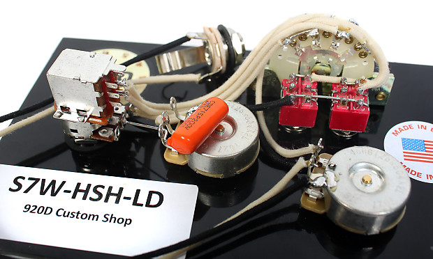 fender strat 920d 7 way hsh wiring harness for lace dually   reverb hsh wiring 7 way #15