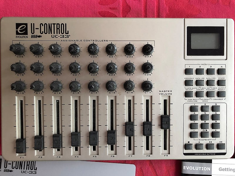 evolution uc 33e usb midi controller mixer reverb. Black Bedroom Furniture Sets. Home Design Ideas