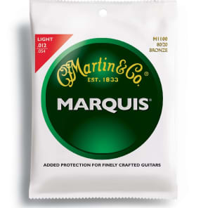 Martin M-1100 Marquis 80/20 Bronze Light Acoustic Strings (3 Pack)