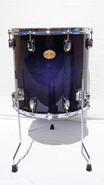New Taye Drums ParaSonic 16x16 Floor Tom In Dark Ocean Burst Finish