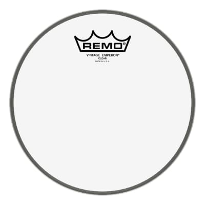 "Remo - 8"" Emperor Vintage Clear Drumhead - VE-0308-00- (Please allow 6-8 weeks for delivery)"