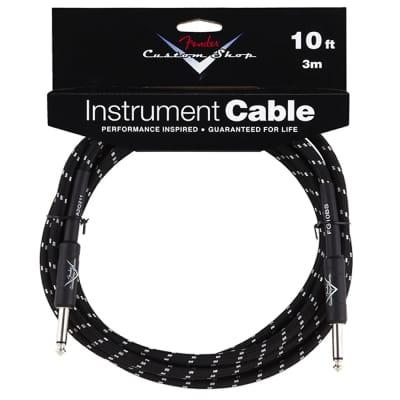 FENDER Custom Shop Performance Series Cables 10' Straight-Straight Angle Black Tweed