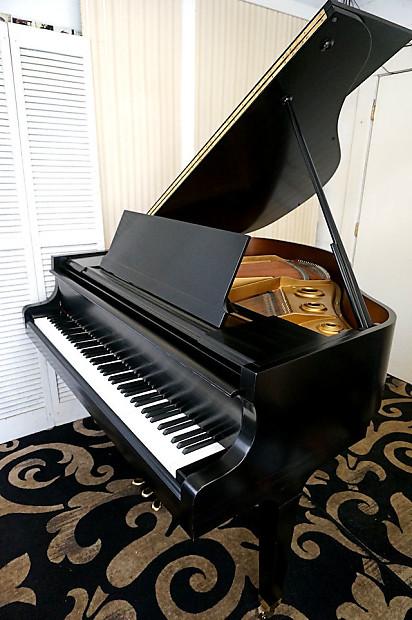 Kawai Baby Grand Piano Ebony Black Howard Baldwin Model 330 Reverb