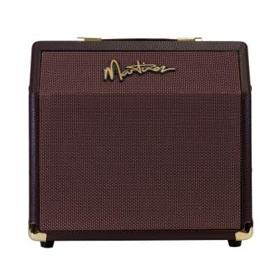 Martinez Retro-Style 15 Watt Acoustic Guitar Amplifier with Chorus (Brown Vinyl) for sale