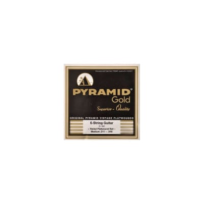 Pyramid Electric Gold Flatwound Strings 11-48