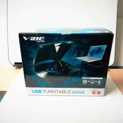 Vibe Sound USB Turntable With Built-In Speakers (A)