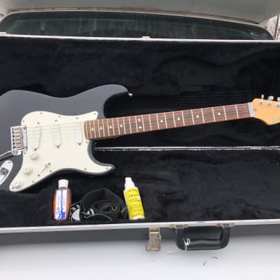 Fender Strat Plus Black Electric Guitar USA w/ Hard Shell Case