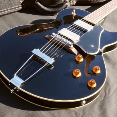 Seventy Seven Hawk Standard Black Custom Shop Hollow Body Made in Japan for sale