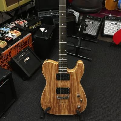Haze HSTL 19210 Electric Guitar w/Spalted Maple Veneer+Free Bag for sale