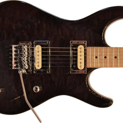 Guilford NPH-80 Custom Built Electric Guitar - Trans Black Top/Maple Neck - Prime Deal with Case for sale