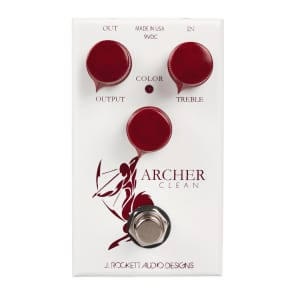 J Rockett Audio Designs Archer Clean Boost Overdrive Pedal for sale