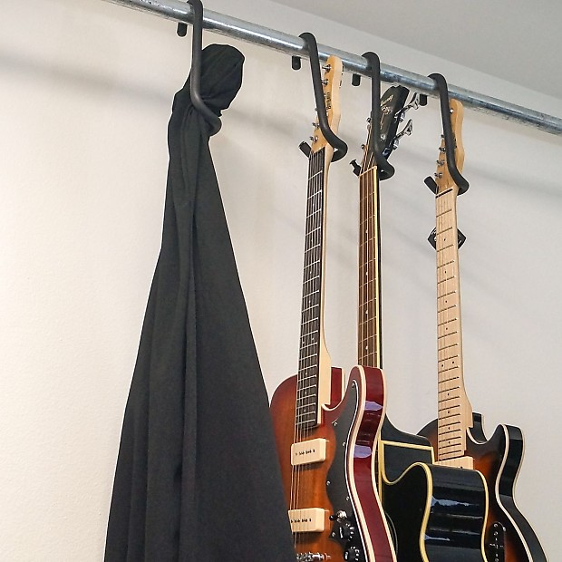 Charmant Guitar Bar Hanger: Unique Guitar Closet Hanger Design. 4 Point Security  Includes Black Guitar Cover