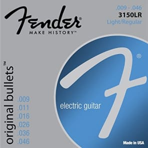 Fender 3150LR Original Bullets Electric Guitar Strings Set -LIGHT/REGULAR 9-46 for sale