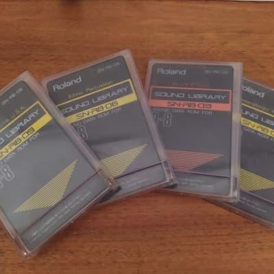 Joblot 4 Roland SN-R8-01, 03, 06, 09 Sound Data Roms for R8 Rythm Composer
