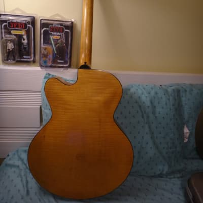 vintage 1967 HarpTone jumbo acoustic Spruce / Maple Guitar  6-NC Sultan * video * for sale