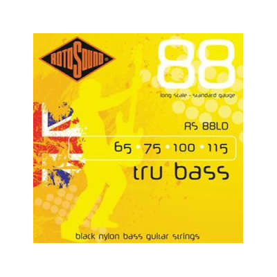 Rotosound RS88LD Trubass Bass Strings Long Scale Black Nylon 65-115