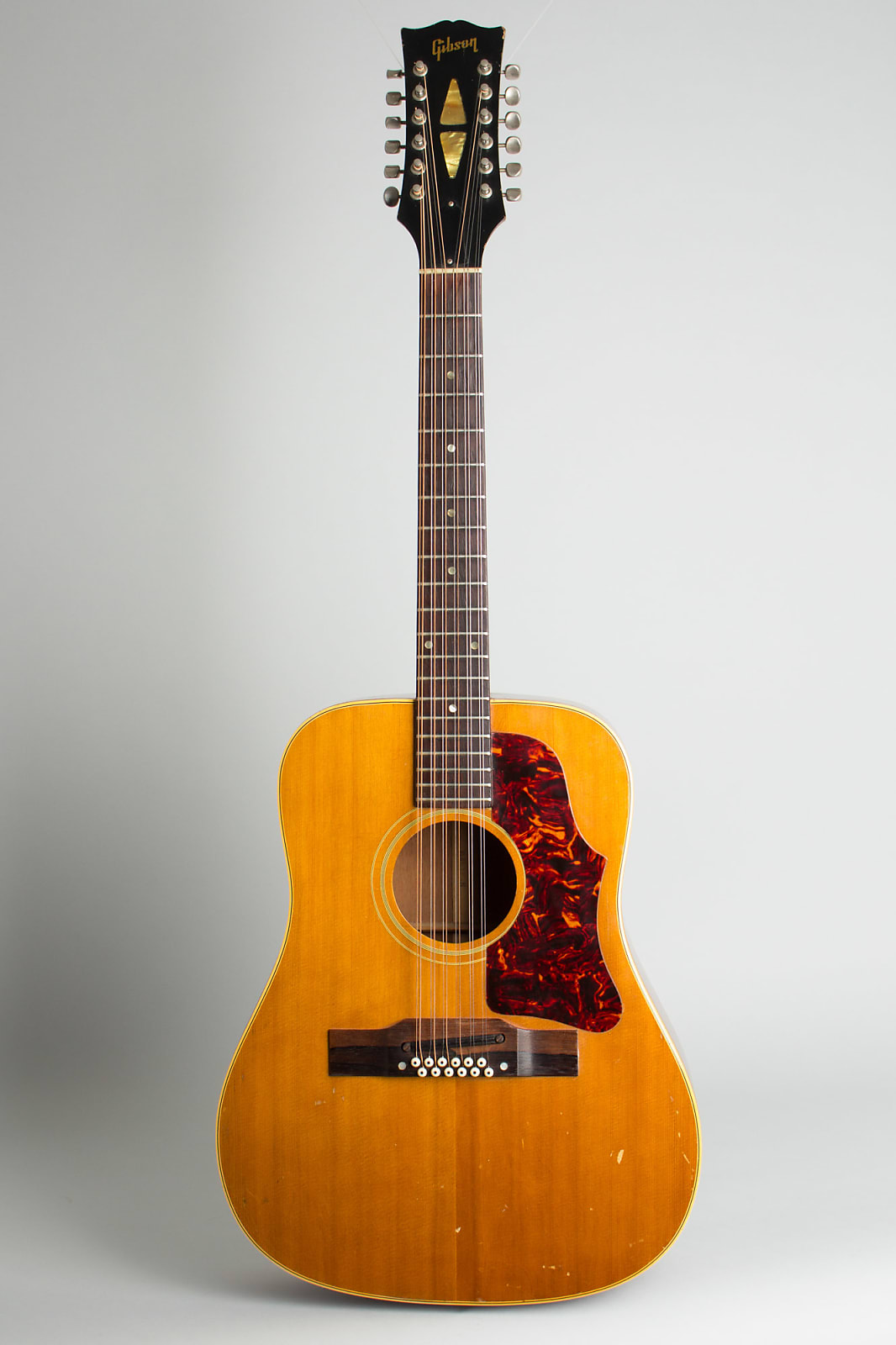 Gibson  B-45-12N 12 String Flat Top Acoustic Guitar (1964), ser. #193998, black hard shell case.