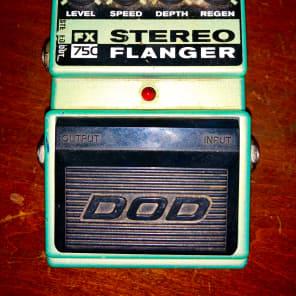 DOD Fx75C Stereo Flanger USA made RARE for sale