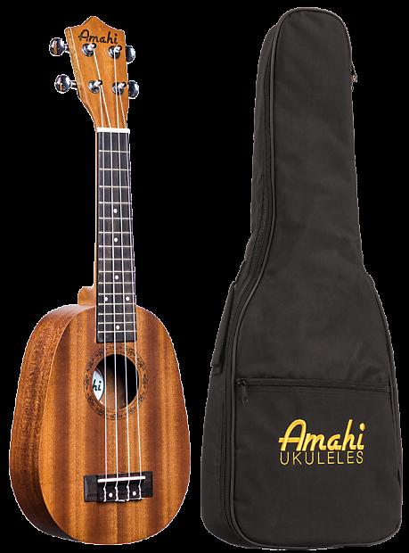 Amahi UK-240S Mahogany Pineapple Ukulele | No Limit Guitar Co