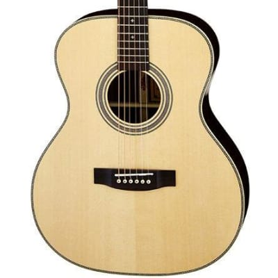 Aria 505 Series Orchestral Body Acoustic Guitar in Natural with Case for sale