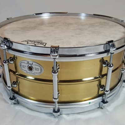 """1997 5.5 X 14"""" Pearl Brass Sensitone Classic, w/ Tube Lugs & Single Flange Hoops, A rare find today!"""