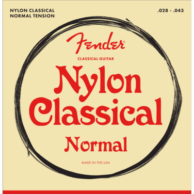 Fender 100 Clear Nylon Tie End .028-.043 Classical Guitar Strings, 073-0100-400