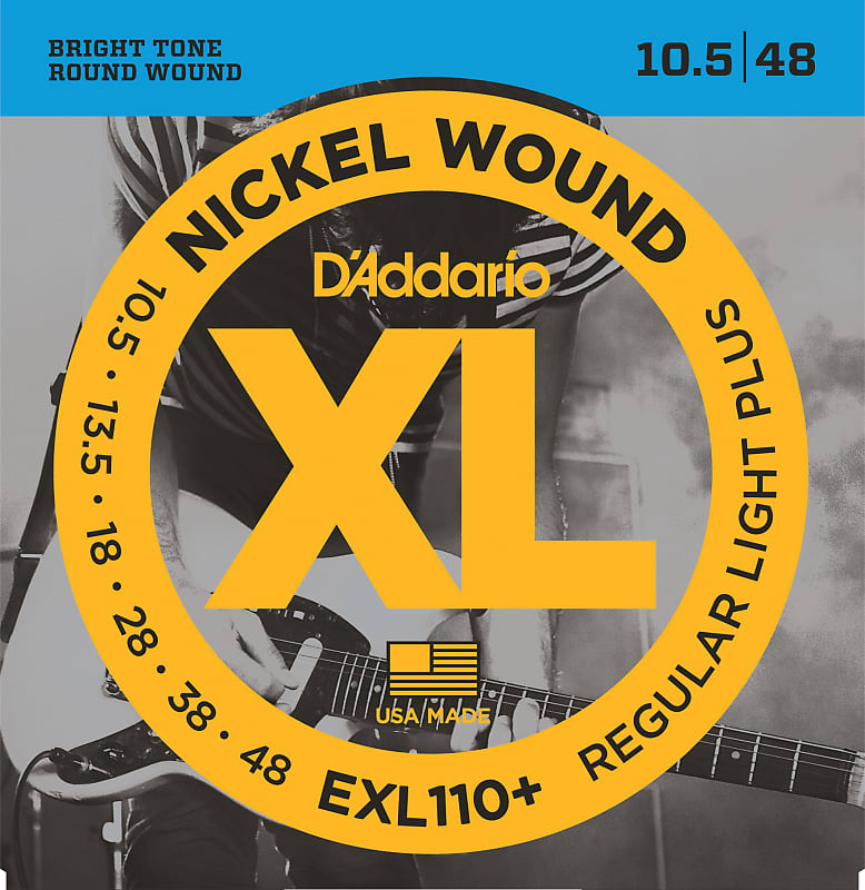 D'Addario EXL110+ Nickel Wound Electric Guitar Strings, Regular Light Plus, 10.