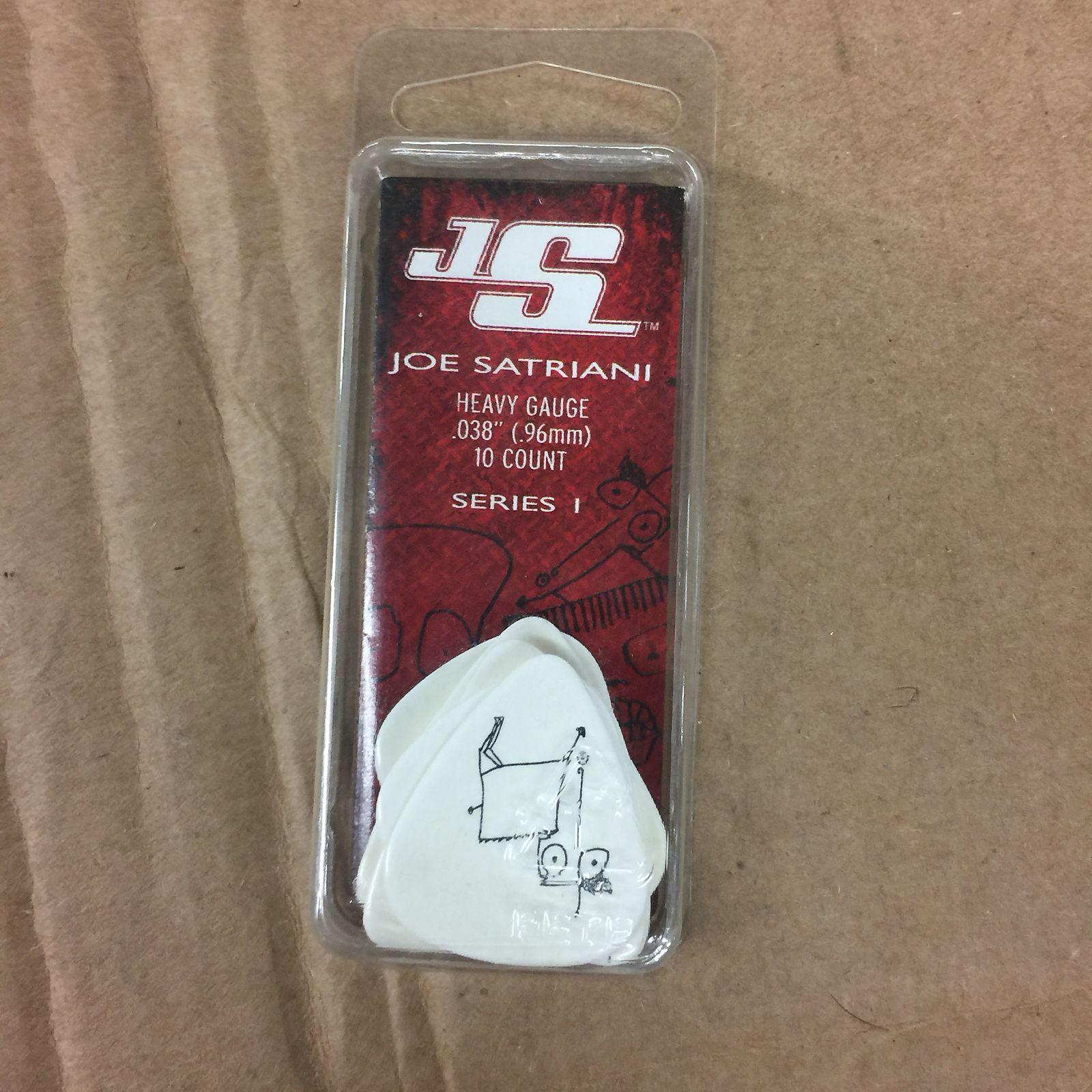 10 pack Heavy Planet Waves Joe Satriani Guitar Picks White