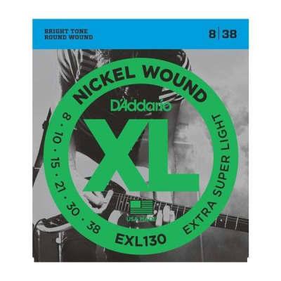D'Addario XL Nickel Wound Electric Guitar Strings - Extra-Super Light   EXL130
