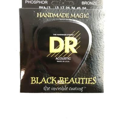 DR Guitar Strings Acoustic K3 Black Beauties Coated 13-56 Bronze