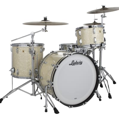 Ludwig Legacy Maple Vintage White Marine Pro Beat 14x24_9x13_16x16 Special Order | Authorized Dealer