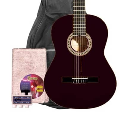 Monterey MC-139 Full Size Classical Guitar Pack - Black for sale