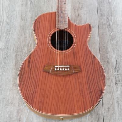 Cole Clark Angel 2 Auditorium Acoustic-Electric Guitar Redwood Top Cutaway for sale
