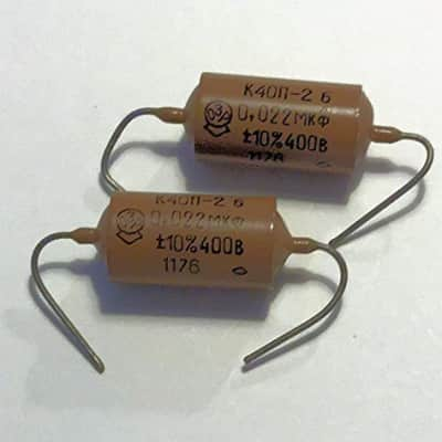 Russian K40N-2a (Set Of 2) .022uf/400v Paper In Oil Capacitors For Tone Control Free Shipping