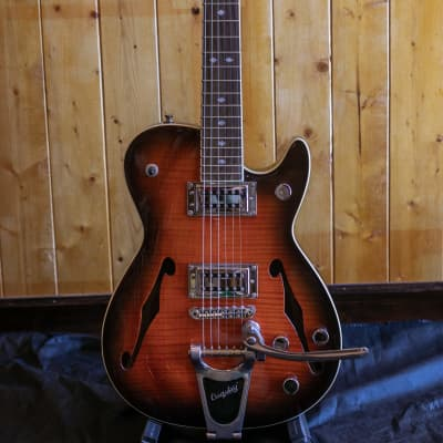 Carparelli Classico SH1 Bigsby - Orange Flame *Showroom Condition for sale