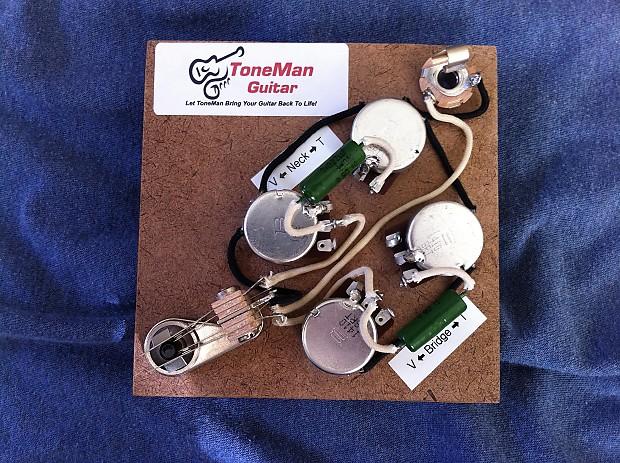 Gibson SG 50's Prebuilt Vintage Wiring Kit - Vintage Paper-In-Oil Tone on