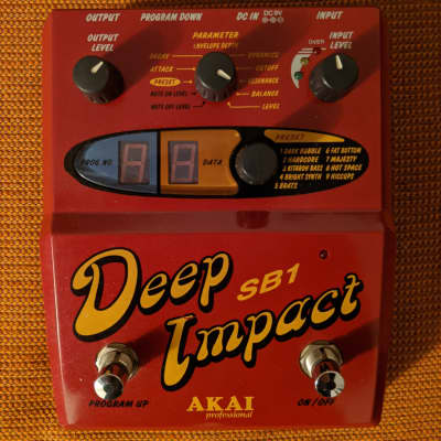 Akai Deep Impact SB1 90's Synth Bass With Box And Documents for sale