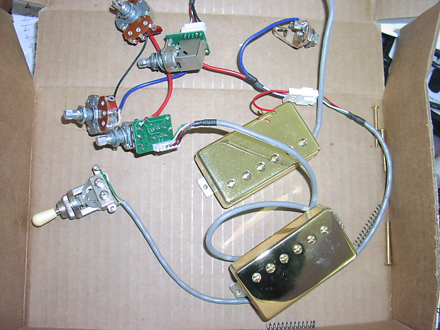 epiphone les paul pro wiring harness with probucker pickups reverb. Black Bedroom Furniture Sets. Home Design Ideas