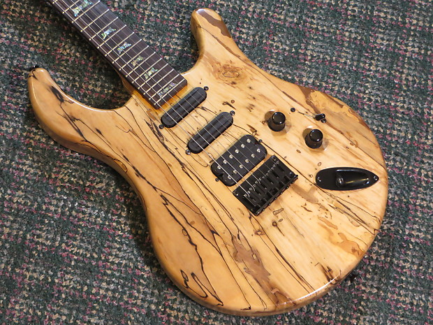 jon kammerer usa scorpius custom solidbody guitar spalted reverb. Black Bedroom Furniture Sets. Home Design Ideas