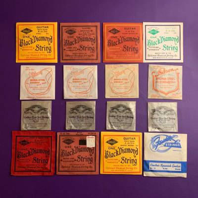 "Vintage National String Co Black Diamond ""guitar"" for 1930s Kay Martin Gibson"