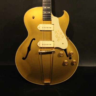 1953 Gibson ES-295 in all gold refinished with original hardshell case
