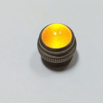 Vintage Smooth Glass Amplifier Jewel Lens, YELLOW, Fits Fender and Other Amplifiers