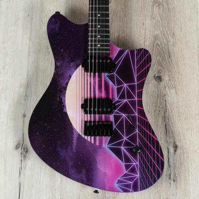 Balaguer The Espada Guitar, Roasted Maple Neck w/ Ebony, Synthwave Edition for sale