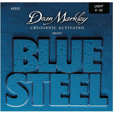 Dean Markley 2552 Blue Steel Electric Guitar Strings 9-42 Light for sale