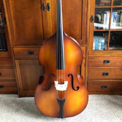 Cremona SB-2 3/4 standing bass 2014 Shaded Amber w/ Bow and Nylon Bag for sale