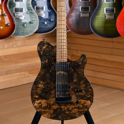 Music Man Axis Super Sport HH BFR Limited Edition Buckeye Burl Roasted Maple Neck Natural for sale