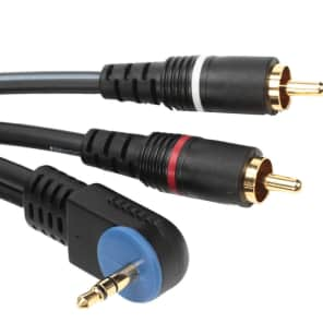 """Mogami PP-3.5R 2R-03 Right Angle 1/8"""" TRS to Dual RCA Male - 3'"""